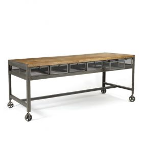 Стол Industrial Metal Metropolitan Work Table