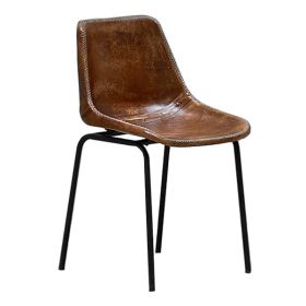 Стул Leather Schoolhouse Chair