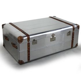 Сундук Trunks in Polished Aluminum Restoration Hardware