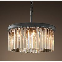 Люстра RH Rhys Clear Glass Prism Round Chandelier 40