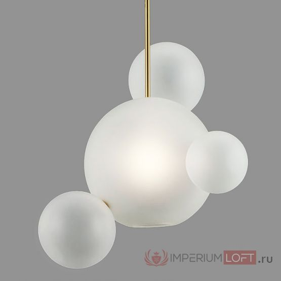 Подвесной светильник Bubble BOLLE BLS LAMP white glass 4 от ImperiumLOFT