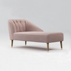 Кушетка Chaise Longue, Pink Cotton Velvet