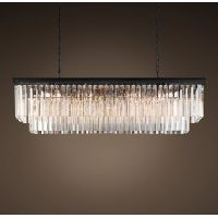 Люстра RH 1920s Odeon Clear Glass Fringe Grey iron 125