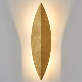 Art Deco Leaf Wall Lamp Gold