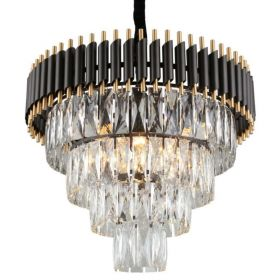 Empire Black Chandelier Crystal D 54