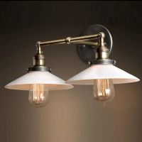 Бра Loft Cone 20th c.Factory filament Pendant Double White