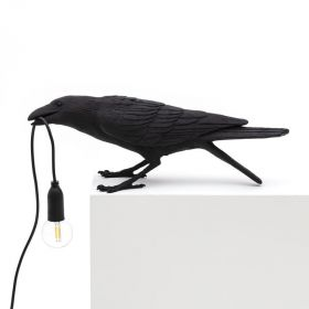 Настольная лампа Seletti Bird Lamp Black Playing