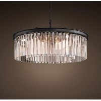 Люстра RH Rhys Clear Glass Prism Round Chandelier 70