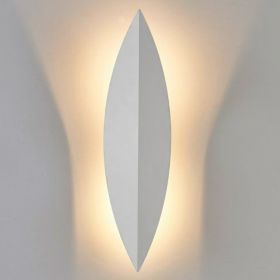 Art Deco Leaf Wall Lamp White