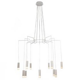Wireflow LED White Suspension lam 12 патронов designed by Jordi Vilardell
