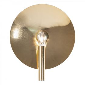 Бра Gold Round Backing Exposed Bulb Sconce