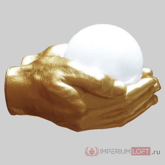 Бра Glowing Ball In The Gold Hands от ImperiumLoft