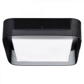 PRECISION Large Flush Mount Black