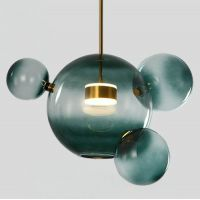 Подвесной светильник Suspension LED design BUBBLE LAMP AMBRE