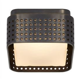 PRECISION Petite Flush Mount Black designed by Kelly Wearstler