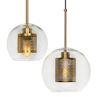 Perforated Vessel Pendant Lamp Gold Ball