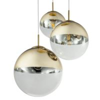 Светильник подвесной Mirror Ball Gold 1 плафонdesigned by Tom Dixon in 2003