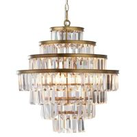 Люстра RH Alaine Crystal Large Pendant Antiqued Brass