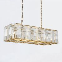 Люстра Harlow Crystal SQUARE Gold