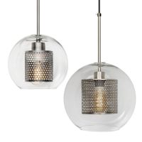 Perforated Vessel Pendant Lamp Nickel Ball
