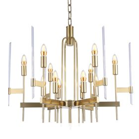 Bari Light Chandelier Aged Brass