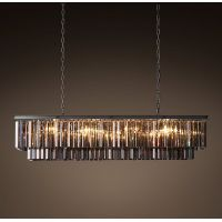 Люстра RH 1920s Odeon Smoke Glass Fringe Grey iron 125