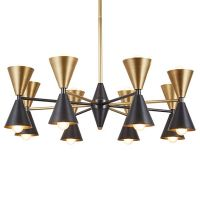 Люстра CAIRO CHANDELIER BLACK AND GOLD