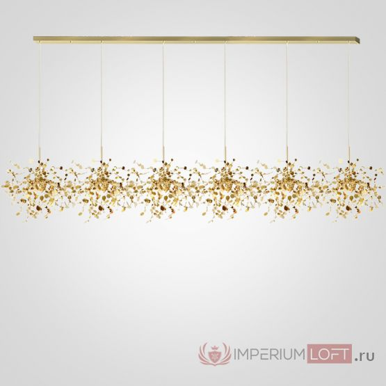 Люстра Tezani Argent Suspension Linear Gold 6L 210