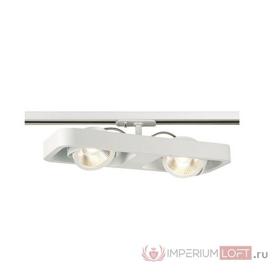 1PHASE-TRACK, LYNAH DOUBLE светильник c COB LED 2x 10Вт (21Вт), 3000К, 1320lm, 24°, белый от ImperiumLOFT